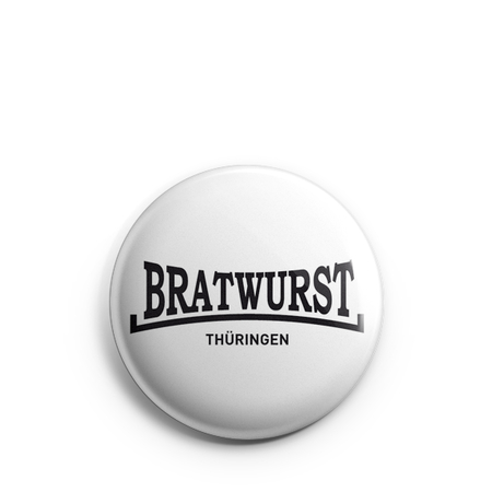 Button 1 inch | Bratwurst Thüringen | basic | white