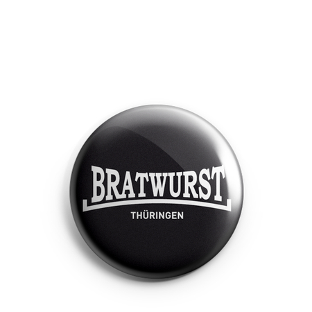 Button 1 inch | Bratwurst Thüringen | basic | black