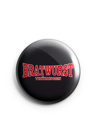Button 1 inch | Bratwurst Thüringen | basic logo red | black