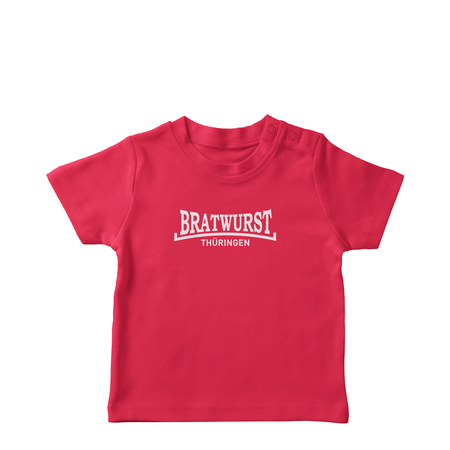 T-Shirt | Baby | Bratwurst Thüringen | basic | red